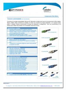 conectores fibra optica autoinstalables