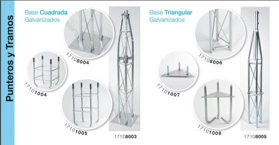Soportes y estructuras para productos de telecomunicaciones