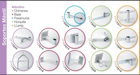 Soportes para estructuras para telecomunicaciones, mastiles, soportes.