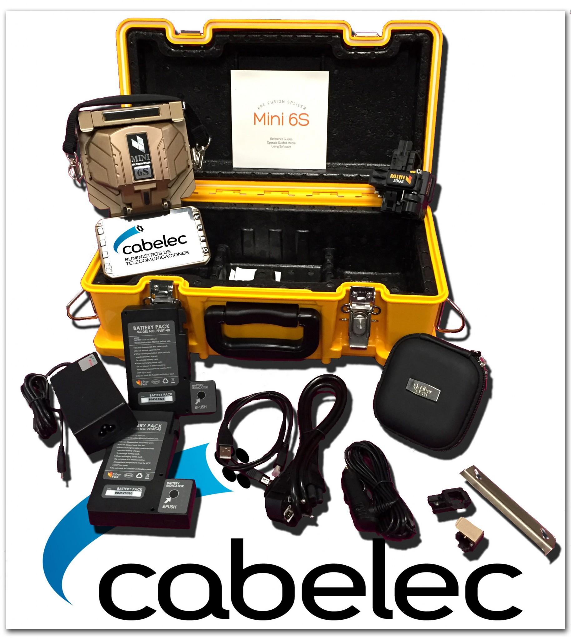 Kit fusionadora de fibra óptica Mini 6S