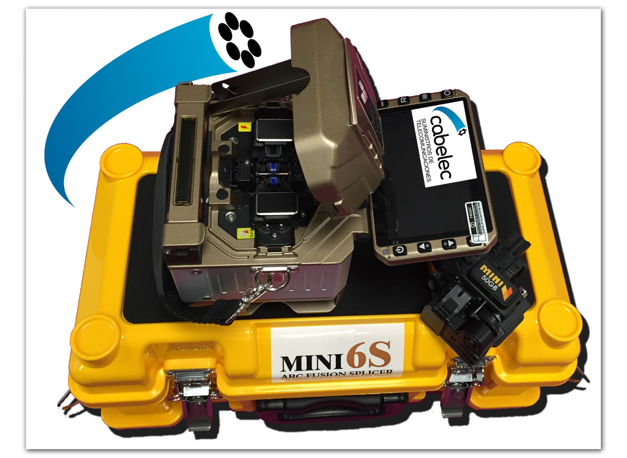 maletin de alta resitencia apra kit de fusionadora de fibra óptica