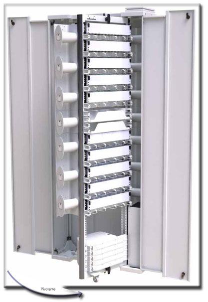 Armario de distribución de cables preconectorizados, empalmes en el exterior del armario de fibra óptica