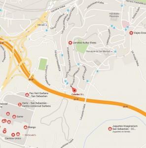 plano de la ubicación de la nueva sede de Donosti-gipuzkoa de Cabelec, S.L.