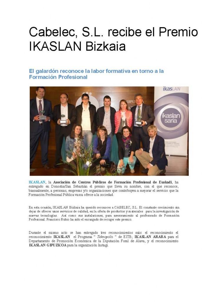 premio Ikaslan